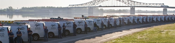 Our fleet of factory trained HVAC air conditioning technicians - on call