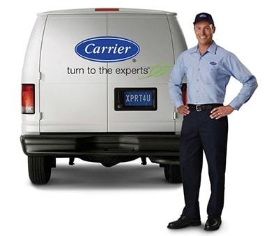 Carrier Certified Technician and Van