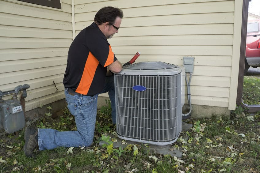 fixing air conditioning unit